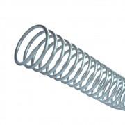 Espiral para Encadernação Prata 9 mm para 50 folhas 100un
