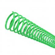 Espiral para Encadernação Verde 7 mm para 25 folhas 100un