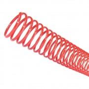 Espiral para Encadernação Vermelho 9 mm para 50 folhas 100un
