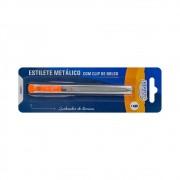 Estilete Retrátil Estreito 09mm Metálico ES0902 BRW 01un