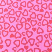 Folha de EVA Corações Rosa 40x48 2mm pacote com 10 un