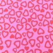 Folha de EVA Corações Rosa 40x48 1,5mm pacote com 10 un