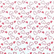 Folha de EVA Corações Vermelho 40x48 2mm pacote com 10 un
