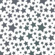 Folha de EVA Estrelas Preta/Branco 40x48 2mm pacote com 10un