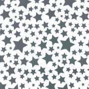 Folha de EVA Estrelas Preta/Branco 40x48 1,5mm pacote com 10un