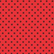 Folha de EVA Poá Vermelho/Preto 40x48 1,5mm pacote com 10 un