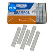 Grampo 26/8 para grampear 20 a 40fls Galvanizado BRW 5000un