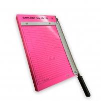 Guilhotina de Papel Manual Rosa 30CM em Aço Marpax 12 folhas