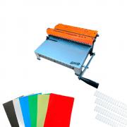 Kit Encadernação 2X1 + 180 Capas PVC + Kit Wire-o Branco