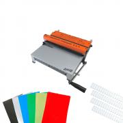 Kit Encadernação 3X1 + 180 Capas PVC + Kit Wire-o Branco