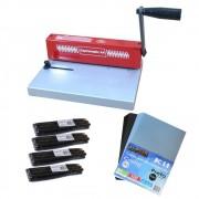 Kit Encadernadora A4 Espiramatic + 100 Capas + 100 Espirais