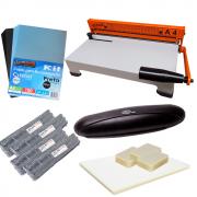 Kit Encadernadora A4-X + Plastificadora Compact + Insumo 220