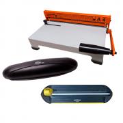 Kit Encadernadora A4-X + Plastificadora + Refiladora - 110v