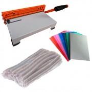 Kit Encadernadora + Capas Coloridas + Espirais Cristal 17mm