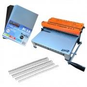 Kit Encadernadora de wire-o 2x1 + 100 Capas A4 + 100 Wire-o