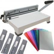 Kit Encadernadora PEX-15 + 100 Capas Coloridas +100 Espirais