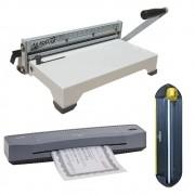 Kit Encadernadora + Plastificadora A3 + Refiladora 4x1 220V