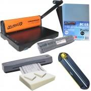 Kit Encadernadora , Plastificadora, Refiladora, Insumos Marpax 220V