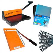 Kit Encadernadora PMX-15 + Guilhotina + Capas e Espirais