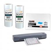 Kit Laminadora Aurora A3 + 02 BOPP A4 Brilho e Fosco 220V