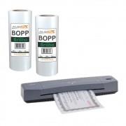 Kit Laminadora Aurora A3 + BOPP A4 + BOPP A3 Brilho Marpax 110V