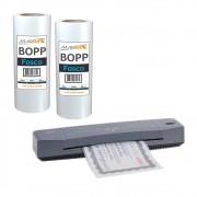 Kit Laminadora Aurora A3 + BOPP A4 + BOPP A3 Fosco Marpax 220v