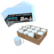 Kit para Sublimação com 12 Canecas + Papel Transfer 100Fls