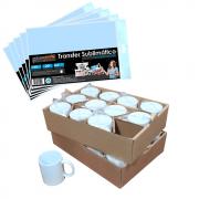 Kit para Sublimação com 24 Canecas + Papel Transfer 100Fls