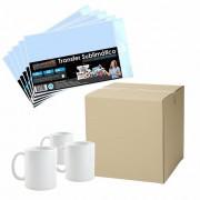 Kit para Sublimação com 36 Canecas + Papel Transfer 100Fls