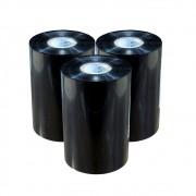 Kit Ribbon Cera Preto para impressora térmica 110x450mm 03un