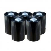 Kit Ribbon Cera Preto para impressora térmica 110x450mm 05un