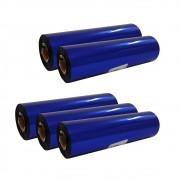 Kit Ribbon Cera Preto para impressora térmica 110x74mm 05un