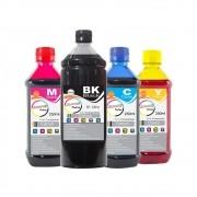 Kit Tinta Canon Compatível BK 01 Litro e Coloridas 250ml