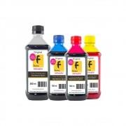 Kit Tinta Epson Compatível Black 500ml e Coloridas 100ml