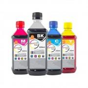 Kit Tinta Epson Compatível Marpax BK 500ml e Coloridas 250ml