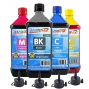 Kit Tinta Epson impressora L355 L365 L375 L395 CMYK 4x500ml