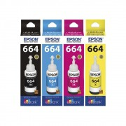 Kit Tinta Epson L355 L365 L375 L455 Original CMYK 4x70ml
