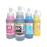 Kit Tinta Epson Pigmentada Compatível Marpax CMYK 4x100ml