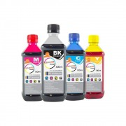 Kit Tinta HP Compatível Marpax BK 500ml e Coloridas 100ml