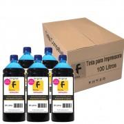 Kit Tinta para impressora Epson Compatível Formulabs Cyan 100 Litros