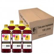 Kit Tinta para impressora Epson Compatível Formulabs Yellow 100 Litros
