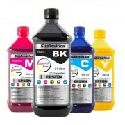 Kit Tinta Sublimática Epson Marpax BK 1000ml Coloridas 500ml