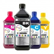 Kit Tinta Sublimática Epson Marpax BK 1000ml Coloridas 500ml