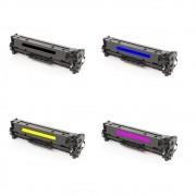 Kit Toner Compatível HP CF380A 381 382 383 Chinamate 4 cores