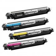 Kit Toner Compatível HP CP1025 M175 M176 Evolut 04 cores