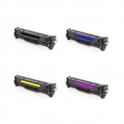 Kit Toner Compatível HP CP1215 CP1515 CM1312 Chinamate 4un