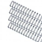 Kit wire-o 2x1 Preto 5/8 - 3/4 - 7/8 - 1 (25un cada) 100un
