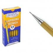 Lapiseira 0.9mm técnica Amarela com Borracha BRW caixa 12un