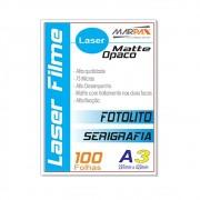 Laser Film A3 297x420mm Opaco Serigráfia e Fotolito 100fls