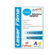 Laser Film A4 210x297mm Opaco Serigráfia e Fotolito 10fls